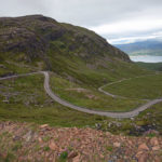 a road winding through mountains on Scotland's famous route 500
