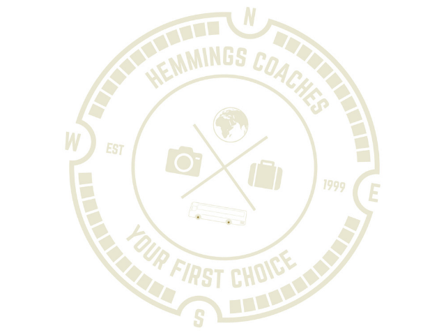 logo depicting Hemmings Coach trips as your first choice holiday